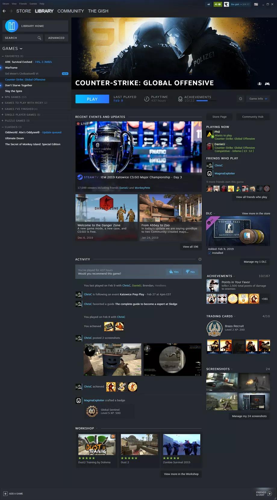 Steam радикально меняет дизайн