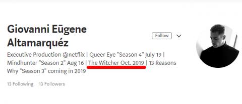 Точная дата выхода сериала Ведьмак